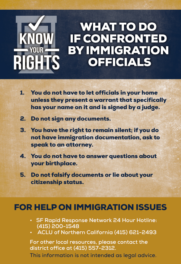 Assemblyman Ting immigration rights cards english