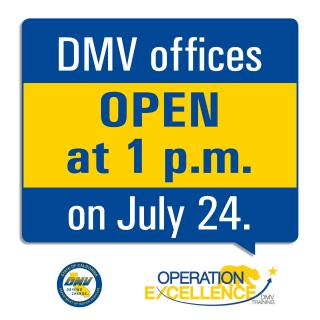 DMV to Close Offices Statewide for Half-Day on July 24