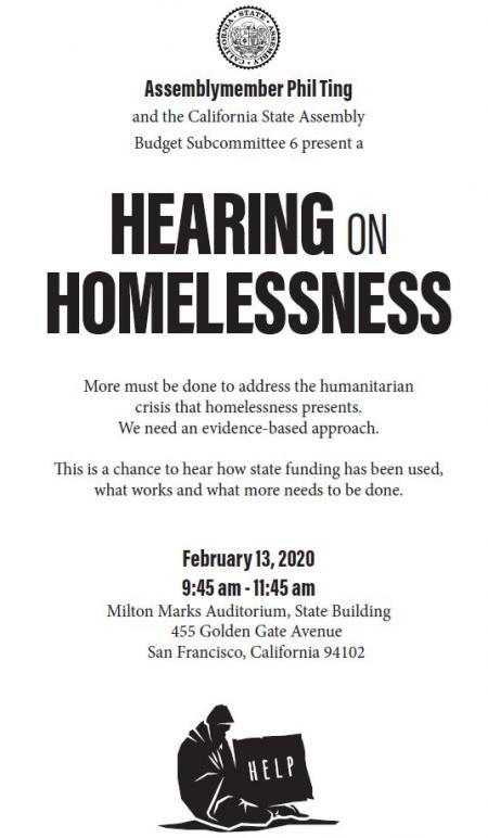 Ting Hosts Budget Hearing on Homelessness