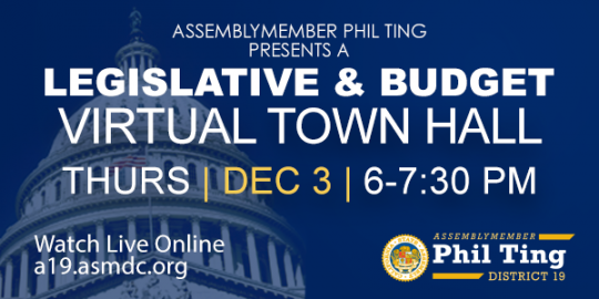 DEC 3: Ting Hosts Legislative & Budget Town Hall