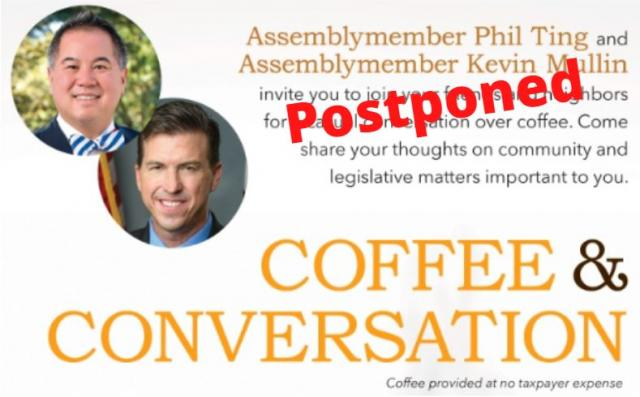 Postponed: Coffee with Assemblymembers Ting & Mullin