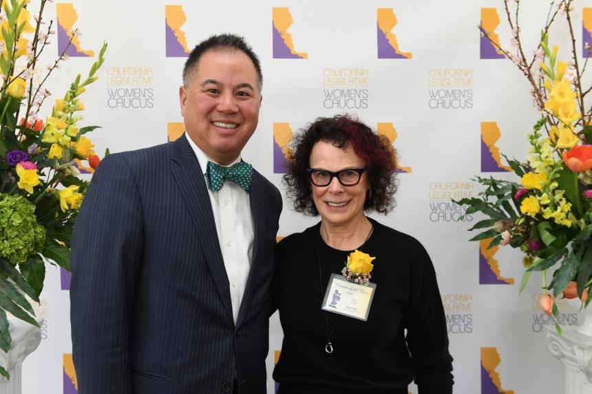 Assemblyman Ting with Joan Graff Woman of the Year 2018