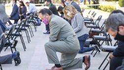 Assemblymember Ting at George Floyd Memorial