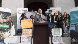 Assemblyman Ting Speaks at Rally to Save After School Programs at the Captitol
